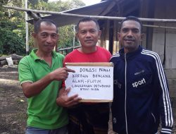 Peduli Korban Bencana Alam, Lingkungan Detuboro dan OMK Stasi Nida Gelar Aksi Sosial