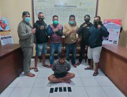 Curi 4 buah Handphone, Polisi Amankan Pelaku beserta Barang Bukti di Manggarai