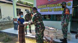 Demi Memenuhi Kebutuhan Masyarakat 3 Kecamatan, Danramil 1602/ 4 Maurole Bantu 3 Ton Beras